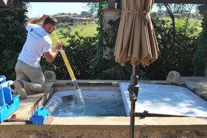 Weekly Hot Tub Cleaning for a Carmel Valley Customer