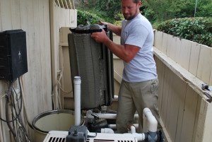Pool Service And Filter Clean Portfoilio In The Rancho Bernardo Trails