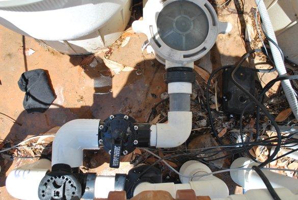 New diverter valve installed for pool flow