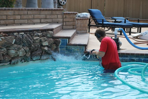 Pool Tile Cleaning To Remove Calcium In La Mesa Protouch