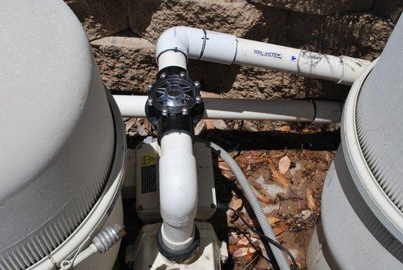 return side pool check valve installed