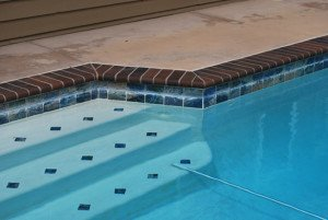 La Mesa pool tile cleaning porcelain tile