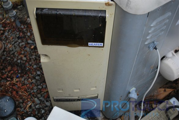 MiniMax NT pool heater door assembly