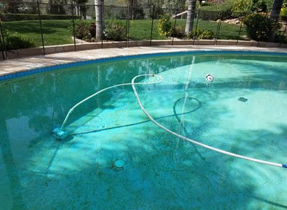 Poway pool inspection with clogged inline pool cleaner
