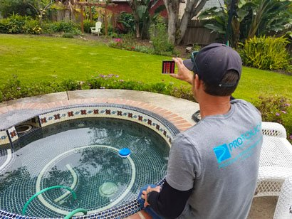 mosaic tiled hot tub proper water testing