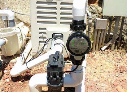 Newly installed Pentair iChlor salt system in Rancho Santa Fe