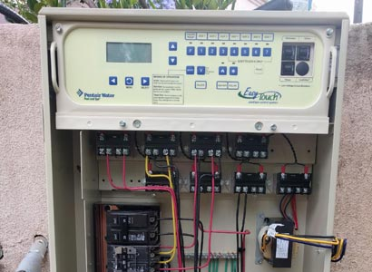 Electrical wiring for the Pentair EasyTouch pool controller