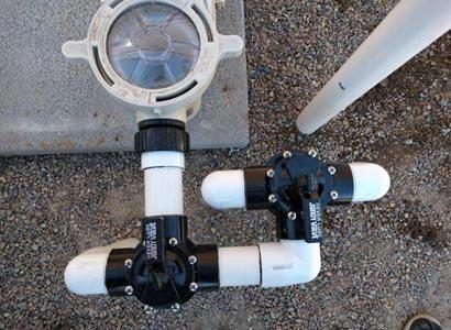 Pool plumbing repairs in La Jolla New Jandy valves