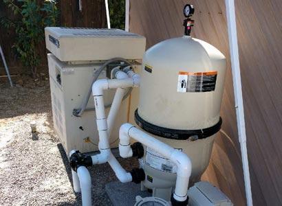 Pool heater repair La Jolla with new pool filter