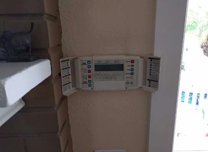 Replacing indoor pool remote for smart phone capability
