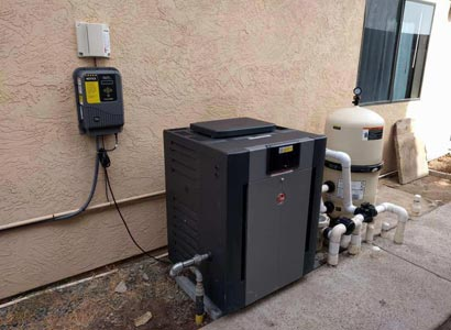 New saltwater chlorine system installed and variable speed pool pump upgrade in Santee