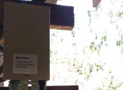 New Pentair Intellichlor IC40 power center installed in La Jolla