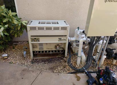 Replacing a pool heater in Fairbanks Ranch From MiniMax to Raypak