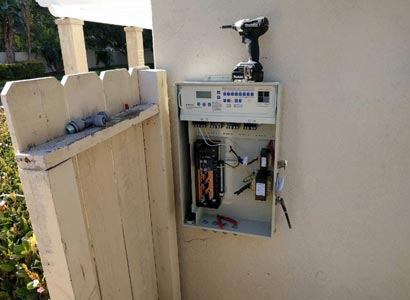 Rancho Santa Fe pool automation being wired
