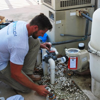 Unions allow the pool pump to be removed without doing additional plumbing