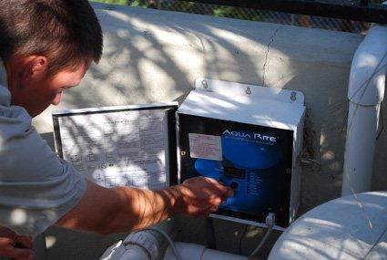 Performing salt water pool system repairs san diego