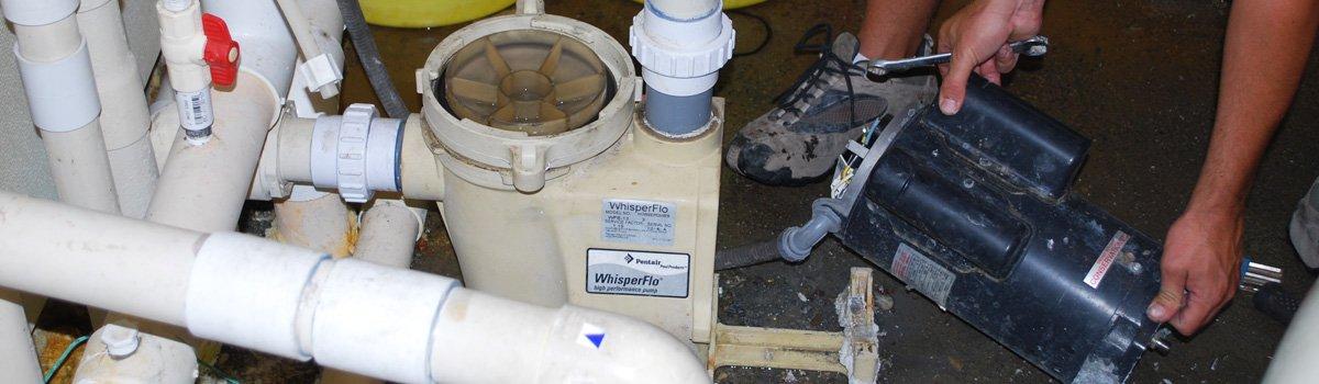 replacing the motor on a pool pump repair