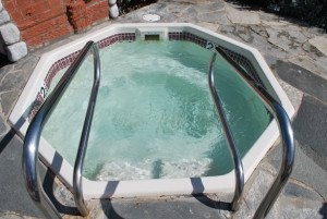 fiberglass inground hot tub