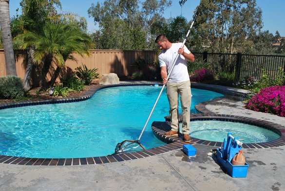 Netting-surface-during-pool-service-in-Carmel-Valley