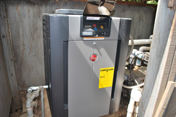 new pool heater installed in Del Mar