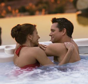 Relaxing in your spa or hot tub makes the day