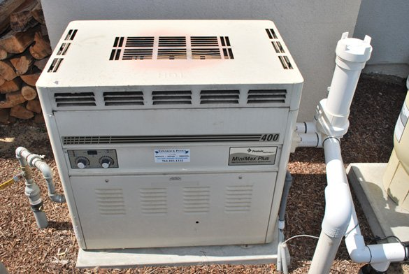 Minimax Plus Pool Heater On Cement Equipment