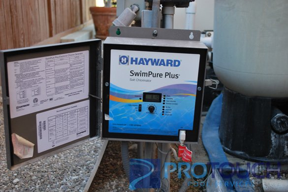 hayward swimpure salt water pool system