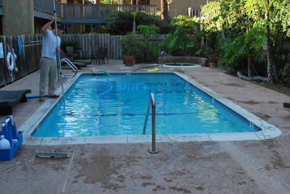 non slip concrete commercial pool deck