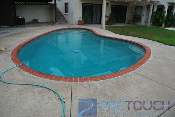 old kidney shaped pool
