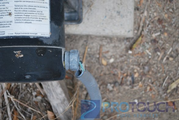 pool pump with bad wiring