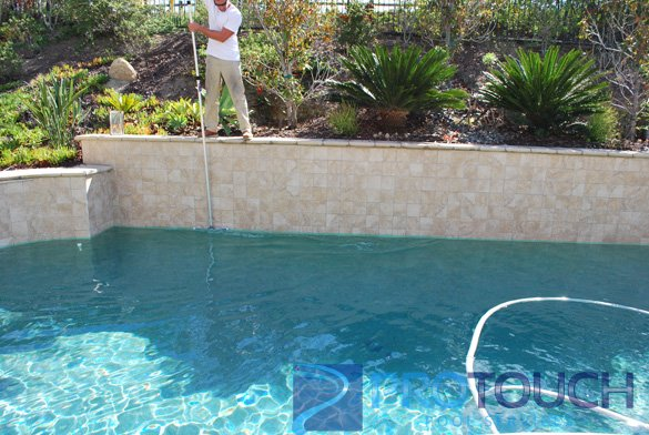 swimming pool tiled bond beam