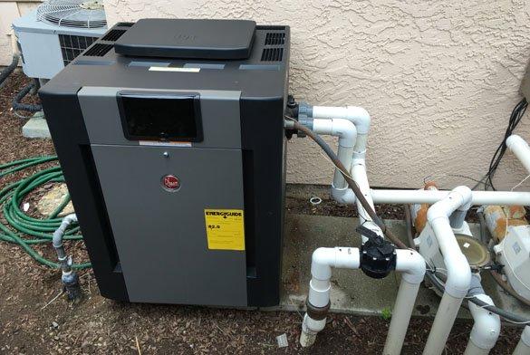 Rheem digital gas pool heater