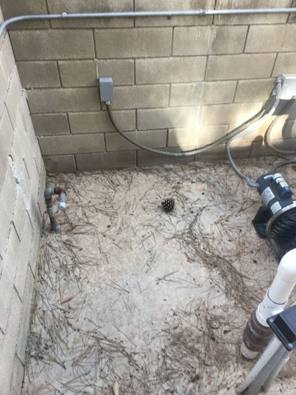 Slab for new pool heater install in Escondido