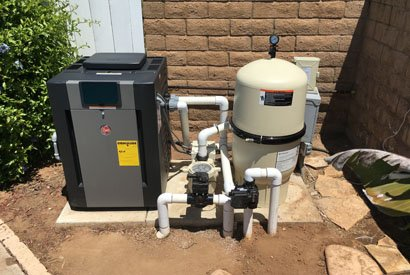 Installed new Raypak pool heater and Pentair pool equipment