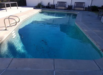Old pool plaster needing to be replaced in San Diego