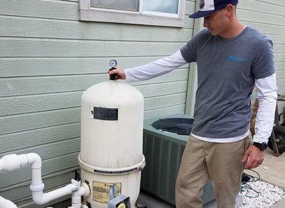 Releasing air from Pentair filter