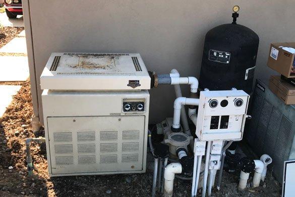 replacing old broken pool equipment