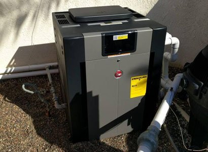 New Raypak pool heater comleted installed in Carlsbad, CA