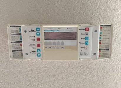 Display for Compool Cp3400 wall mounted remote control