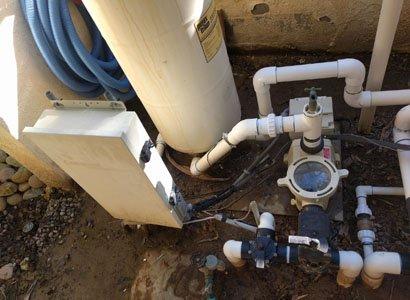 Pentair 2 VST pool pump looking from top