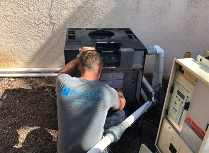 wiring new pool heater installation in carlsbad - Pool Heater Repair