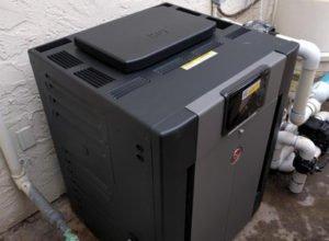Del Mar pool heater installation Raypak 406A