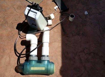 Replacing old CompuPool salt water chlorinator in Otay Mesa