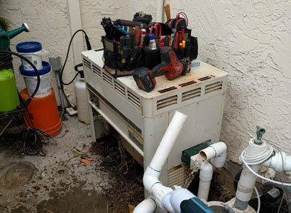 Mini Max Plus pool heater replacement in Del Mar, CA
