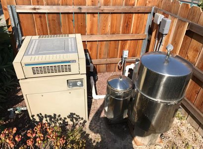 oldteledyne lars series one pool heater and sta-rite filter