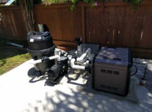 Allnew pool heater, filter and pool pump installed in Chula Vista