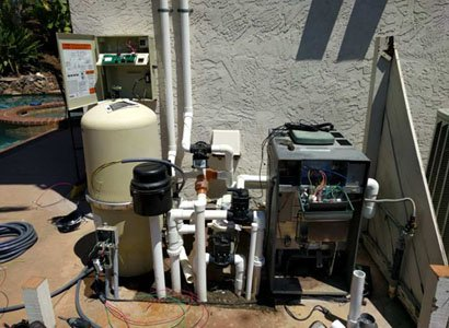 Repairing the pool heater in Scripps Ranch