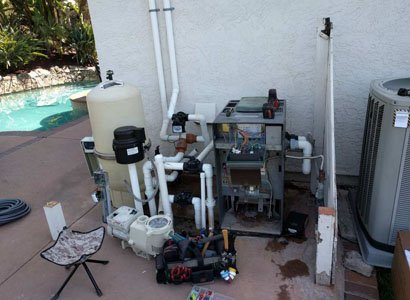 Old Raypak pool heater repair in Scripps Ranch