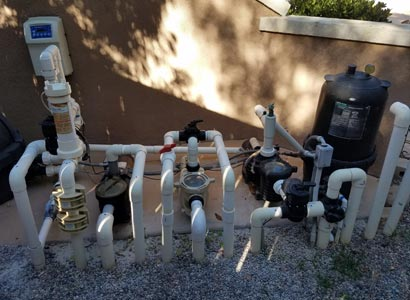Complete pool equipment in 4S Ranch during inspection