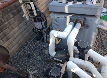 Installing a pool pump next to an older pool heater in Encinitas
